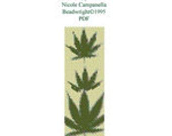 Marijuana Bead Loom Cuff Cannabis Pot Leaves Pattern PDF Instatn Download