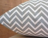 Add Personalization - DESIGNER Pet Bed Duvet Cover - Stuff with Pillows - YOU Choose Fabric - Cosmo Zig Zag Chevron Ash Grey/White shown