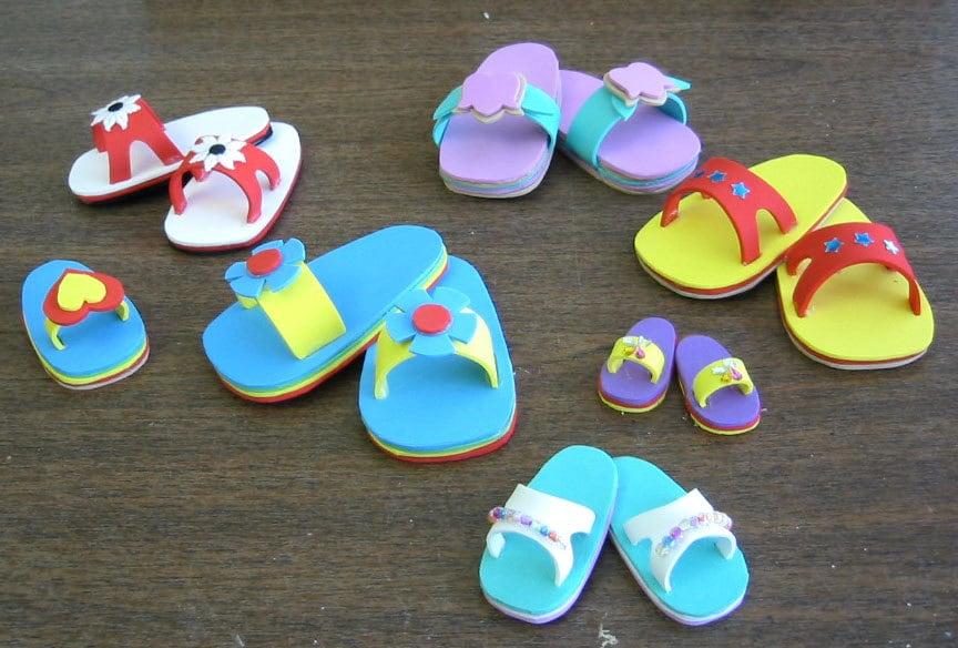 Doll Sandals Pattern Foam Shoe Pattern Includes Multiple