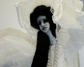 Wailing Banshee one of a kind mixed media art doll