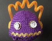 Blythe Helmet - Purple Sparkly Robot - Pew pew!