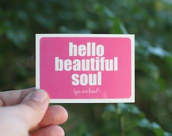 hello beautiful soul . a sticker set