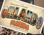Vintage Large Letter Postcard Save the Date (Orlando, FL) - Design Fee