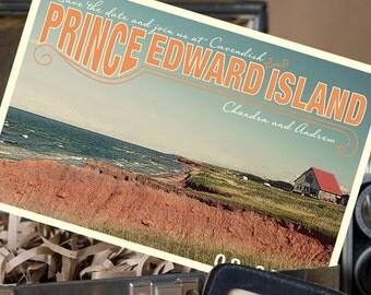 Vintage Travel Postcard Save the Date (Prince Edward Island) - Design Fee