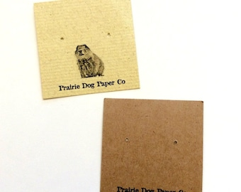 Post earring cards, 2x2, jewelry display card, earring tag, custom printed, set of 40, personalized cards