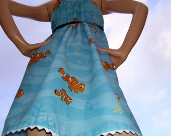 Nemo Sundress Hippie Geek Mom Disney Cruise Resort Party Finding Nemo Fish Sundress S M L Adult Free Size Dress Maternity Too