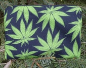 Pot leaves zippered bag, make up bag, accessory bag, The Scooter
