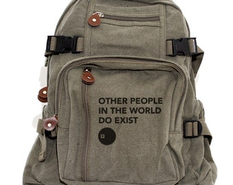 Backpacks, Other People, Canvas Backpack, Rucksack, Travel Backpack, Bag, Small Backpack, Men Backpack, Women's Backpack