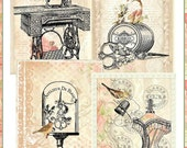 ADD-ON Collection Two for Vintage Sewing Bird Board 7 Full Size Backing Background Papers  Instant Download Digital Printable