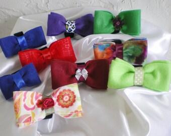 handmade bowtie for dog collar Felt  - photo prop  ~felt bowtie ~ Boxer Friends Rescue MADE TO ORDER