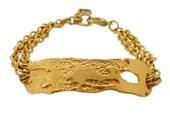 Scattered Ruin Large Gold I.D. Bracelet