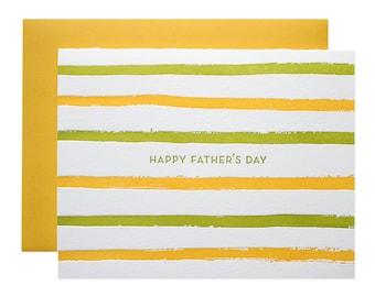 Father's Day Stripes Letterpress Card