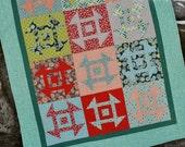 PDF Patchwork Quilt Pattern, Fat Quarter Friendly, Baby to king size, Modern Churn Dash