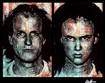 "Prints 11x17"" - Mickey and Mallory - Natural Born Killers Oliver Stone Quentin Tarantino Woody Harrelson Pop Art Juliette Lewis Horror Dark"