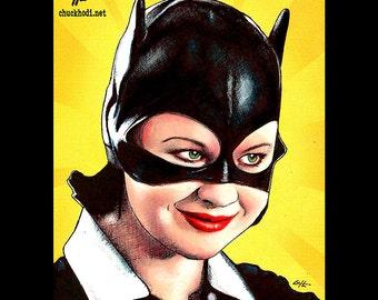 "Print 8x10"" - Enid - Ghost World Daniel Clowes Thora Birch Steve Buscemi Catwomen Batman Comics Pop Art Lowbrow Art Comedy Hipster LOL Bats"