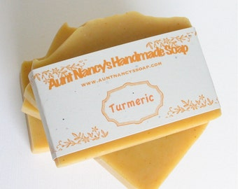 Natural Turmeric Handmade Soap with Carrot - Facial Soap - Carrot Soap - Mild Enough For Face - Natural Face Soap - Turmeric Essential Oil