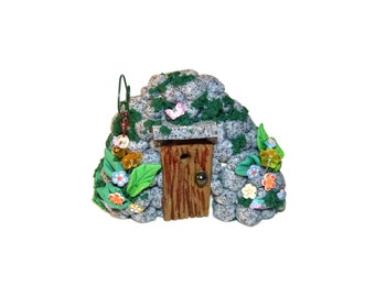 Whimsical Miniature Hand sculpted terrarium garden Lovely MiniatureTroll ,Fantasy gnome, elf, fairy house for miniature garden