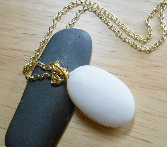 Beach Pebble Jewelry Sea Stone Necklace ROLLING ROCK