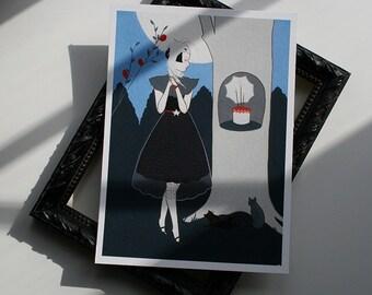 A Birthday mini print - archival giclee