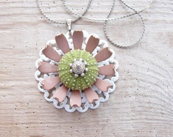 Sea Urchin Necklace Flower Necklace One of a kind