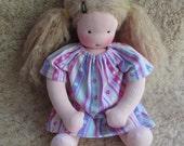 candy stripes, 14-16 inch Nightgown, for waldorf dolls, germandolls, doll clothing, sleepwear