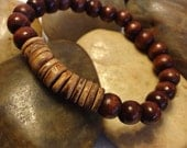 Men's Bracelet-beaded stretch wooden bracelet
