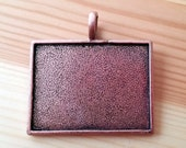 Sale! 20 Extra Large Blank Pendant Trays copper