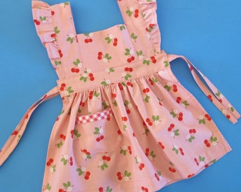 Baby Pinafore Pattern - vintage style pinafore apron dress - 0 to 24 months