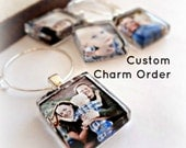 Reserved Custom Order l Custom Photo Logo Pendants and Wine Charm Party Favors