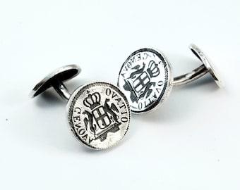 Genovese cufflinks - sterling silver