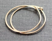 Simple Gold Hoop Earrings / 14K Gold Fill Hoops / Small Round Hoops / Minimal Jewelry