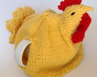 Chicken Teapot Cozy Hand Knitted