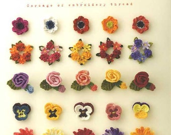 CORSAGE of Embroidery Thread 100 - Japanese Craft Book