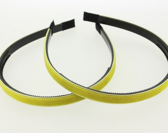 """2 pieces - 10mm (3/8"""") Velvet Lined Headband with Teeth in Daffodil - Hair Accessories"""