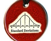 Standard Deviations Ceramic Necklace In Deep Red