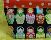 Matryoshka Medium Oilcloth Snappy Pouch
