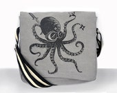 Ninja Octopus Canvas Vintage messenger bag