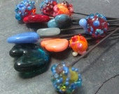This, That, and The Other Handmade Lampwork Glass Bead Headpins Mixed Set