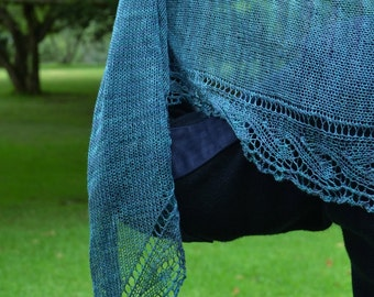 Cupric Shawl Scarf KNITTING PATTERN PDF by Christine Jones