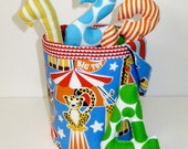 Counting Stuffed Number Toy Bucket Set - Bright Circus