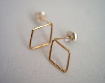 Tiny Diamond Stud earrings, 14k Gold fill, 14k gold fill post earrings, diamond studs, small diamond stud earrings, 14k gold filled studs