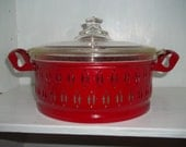 Beautiful Vintage Pyrex in Red Server