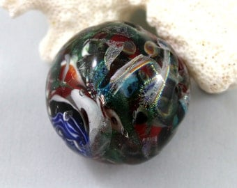 marble paper weight, witches brew paperweight, lampwork orb, glass marble