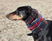 Snood for Large Dog - Red Plaid Polarfleece Snood for Dog - Snood for Doberman - Doberman Snood - Dog Snood