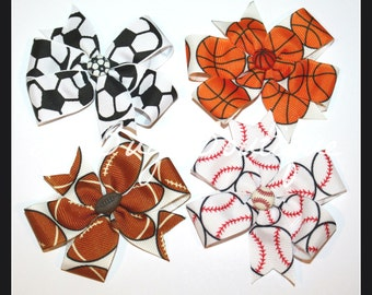 LiliBug Sporty Hair Bow - YOU PICK SPORT