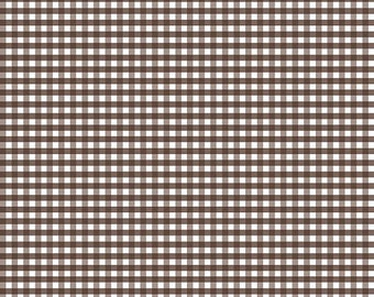 LAST Yard - Gingham - Brown - Fabric by Riley Blake - 7.95 Dollars