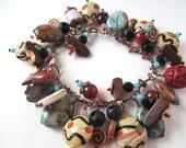 Rustic Charm Bracelet Assorted Beads Southwest