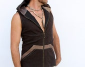 Pacha Play Mens Altair Vest- heavyweight cotton stretch twill