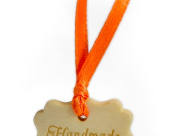 Custom wooden hang tags 100 pcs Personalised labels