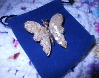 Brooch Pin Butterfly with Stones fashion accessory